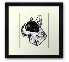 Tattooed French Bulldog Framed Print