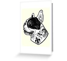 Tattooed French Bulldog Greeting Card