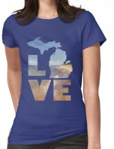 Love in Michigan Womens Fitted T-Shirt