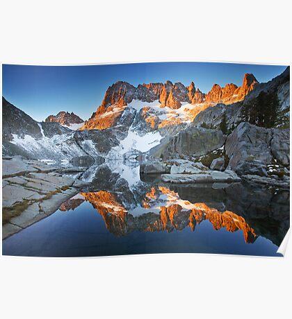 Iceberg Lake Sunrise Poster