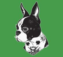 Tattooed Boston Terrier  Baby Tee