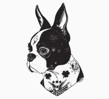 Tattooed Boston Terrier  Kids Clothes