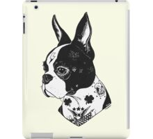 Tattooed Boston Terrier  iPad Case/Skin