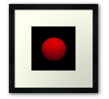 The Morning Sun is Shining Like a Red Rubber Ball Framed Print