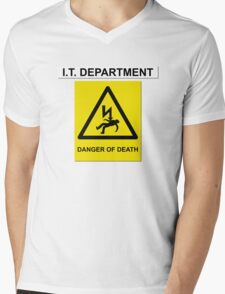 The IT Crowd – IT Department Danger of Death Mens V-Neck T-Shirt