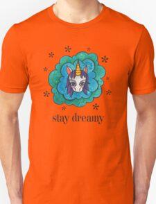 Stay Dreamy: Cute Unicorn Drawing Watercolor Illustration  Unisex T-Shirt