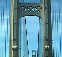 Mackinac Bridge Detail by marybedy