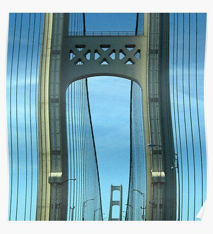 Mackinac Bridge Detail Poster