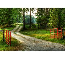 Country Roads in Grunge Photographic Print