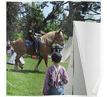 In the encampment: U.S. Civil War reenactment Poster