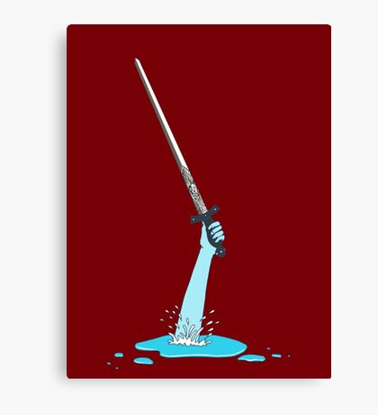 Excalibur and the Lady of the Puddle Canvas Print