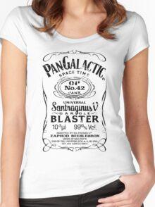 Pan Galactic Gargle Blaster - No. 42 [BLACK] Women's Fitted Scoop T-Shirt
