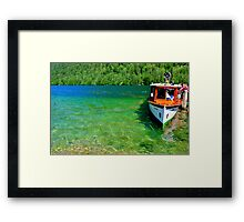 Fresh and green water Framed Print