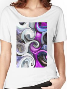 colored background texture Women's Relaxed Fit T-Shirt