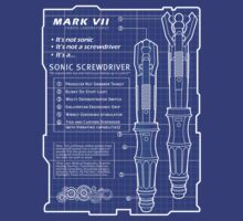 Sonic Screwdriver Blue Print by zerobriant