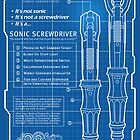 Sonic Screwdriver &quot;Mark VII&quot; Poster by zerobriant