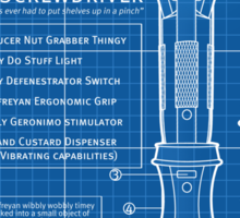 "Sonic Screwdriver ""Mark VII"" Stickers Sticker"
