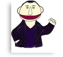Ninth Doctor Muppet Style Canvas Print