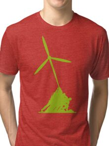 Raising wind turbines Tri-blend T-Shirt