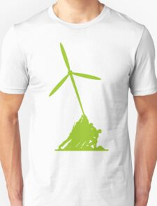 Raising wind turbines T-Shirt