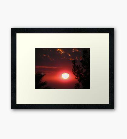 Wildfire Sunset...... Framed Print
