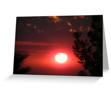 Wildfire Sunset...... Greeting Card