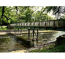 Bridge work Photographic Print