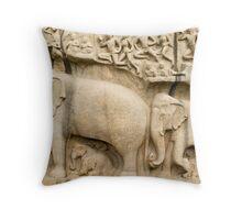 Mamallapuram Elephant Throw Pillow