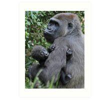 Gorilla Love Art Print
