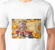 ✿♥‿♥✿PUMPKIN TEDDY BEAR IN WAGON✿♥‿♥✿ Unisex T-Shirt
