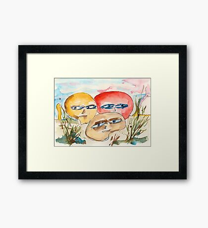 Let's be angry together Framed Print
