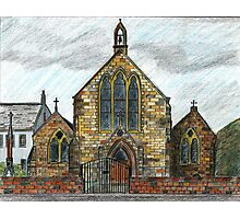 68 - ST. CUTHBERT'S R.C. CHURCH, COWPEN - DAVE EDWARDS - INK & COLOURED PENCILS - 1997 Photographic Print