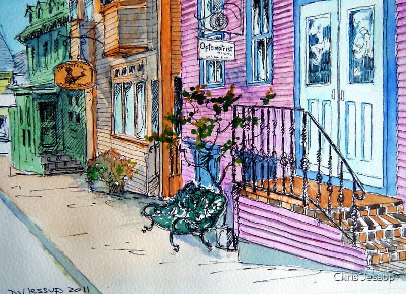 Store Fronts in Lunenburg, Nova Scotia by Chris Jessup