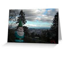 City View Gnome Greeting Card