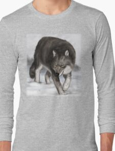 Wolf in the snow Long Sleeve T-Shirt
