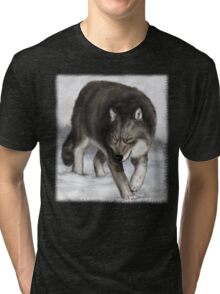 Wolf in the snow Tri-blend T-Shirt