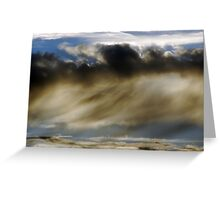 waves of angry clouds Greeting Card