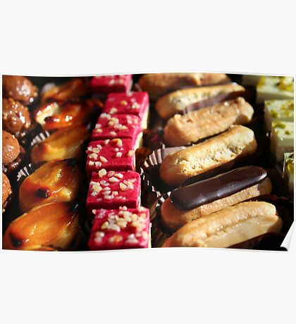 Eclairs & Cakes Poster