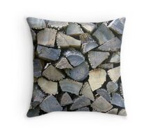 Chopped wood Throw Pillow