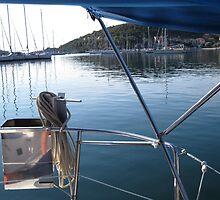harbor of sivota , greece by annet goetheer