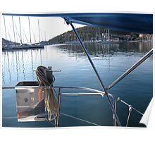harbor of sivota , greece Poster