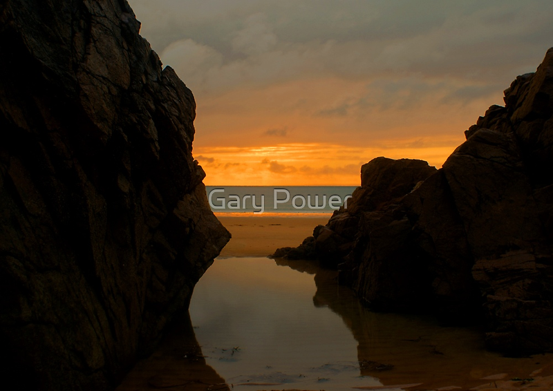 Plemont sunset by Gary Power