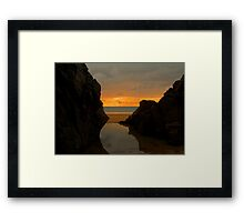 Plemont sunset Framed Print