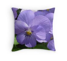 Pansies in the Park Throw Pillow