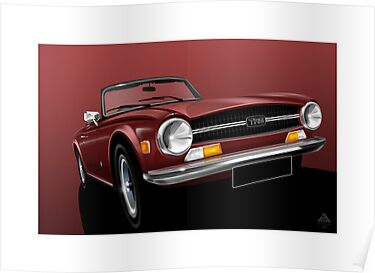 Triumph TR6 Illustration by Autographics