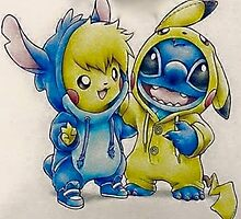 Pika& Stitch by r0sa