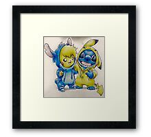 Pika& Stitch Framed Print