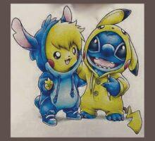 Pika& Stitch One Piece - Short Sleeve