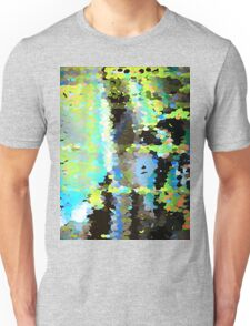 Lake surface reflecting tree blossoms Unisex T-Shirt