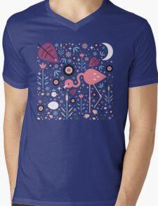Flamingo & Chick  Mens V-Neck T-Shirt